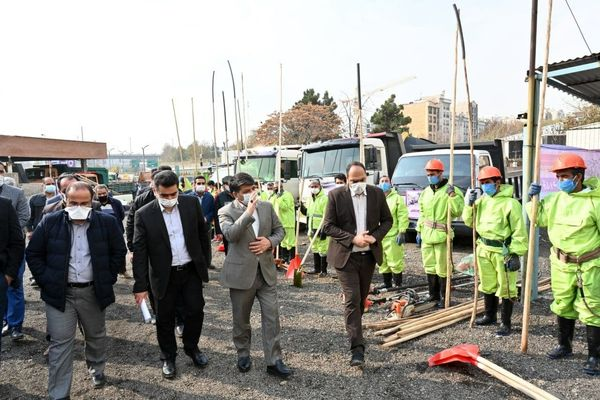 مانور برف روبی شهرداری منطقه یک در شمال تهران برگزار شد