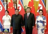 سفر محرمانه رهبر کره شمالی و همسرش به چین + عکس