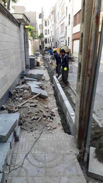 اجرای عملیات ترمیم وبهسازی معابر منطقه 13