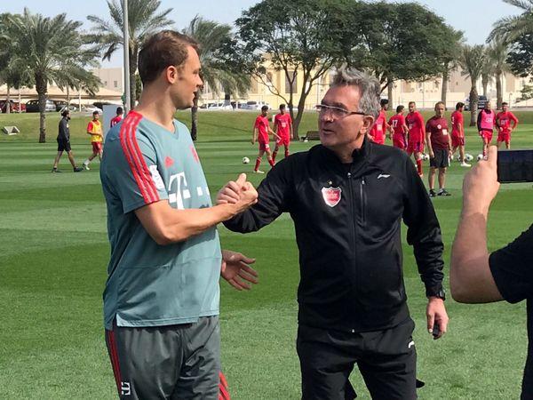 کاپیتان تیم ملی آلمان و بایرن مونیخ در تمرین سرخپوشان