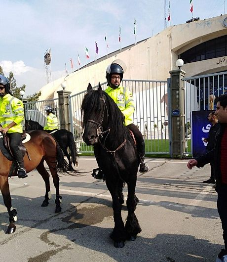 حضور پلیس اسب سوار در اطراف ورزشگاه آزادی+عکس