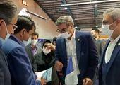 پخش زنده عملیات معدنکاران مجتمع معدنی چادرملو در نمایشگاه ماینکس تهران.