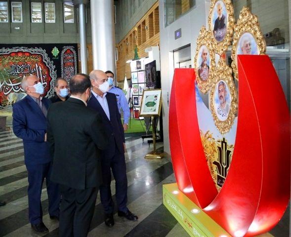 برپایی نمایشگاه هفته دفاع مقدس در بانک کشاورزی