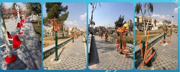 نوسازی مجموعه دستگاه های ورزشی و بازی بوستان های منطقه15