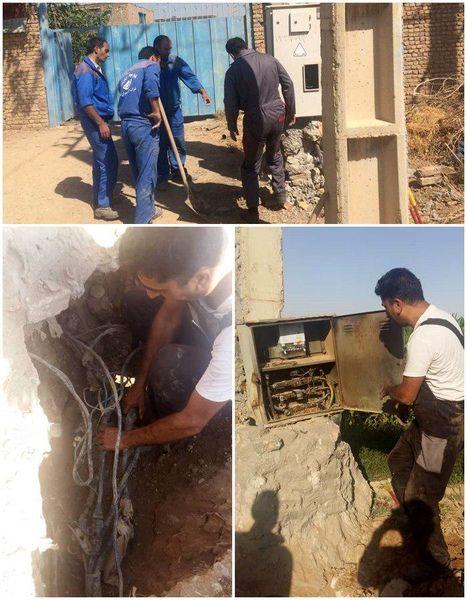 26 انشعاب غیرمجاز برق چاههای آب در پاکدشت جمع شد