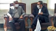 مدیرعامل شرکت آب و فاضلاب استان مرکزی با فرماندار شهرستان خنداب دیدار کرد