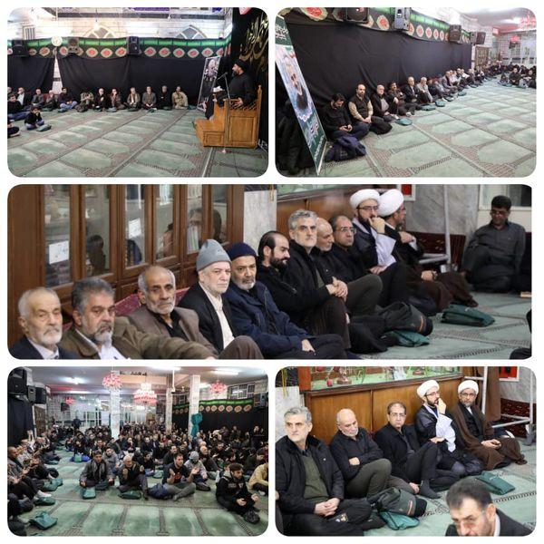برگزاری مراسم عزاداری سردار دل ها با حضور شهردار منطقه۹