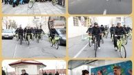 دوچرخه سواری شهرداران مناطق۹و۱۰ در هفته هوای پاک