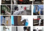 تداوم فرایند ضد عفونی معابر شهری در منطقه سه