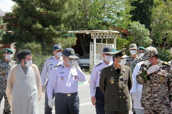 بازدید فرمانده کل ارتش از دانشگاه پدافند هوایی ارتش