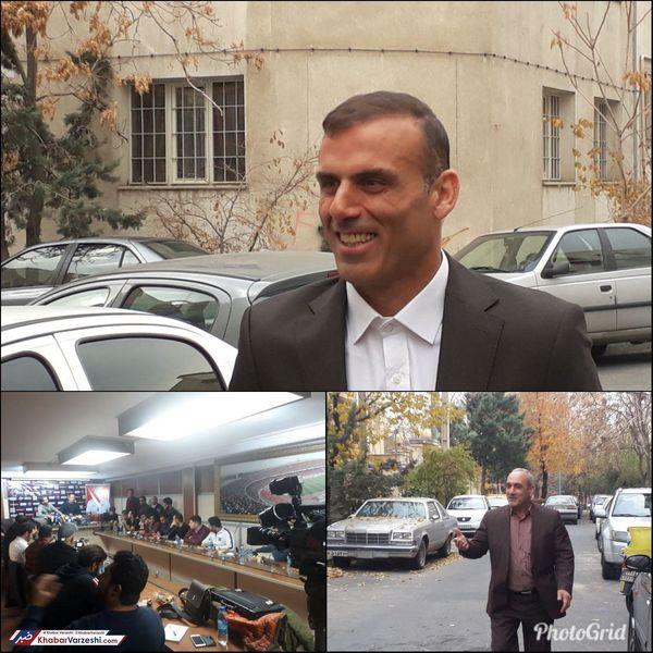 حضور پرسپولیسیها در نشست خبری سیدجلال حسینی + عکس