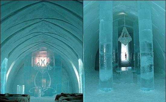 مسجدی که فقط از یخ ساخته شده +عکس