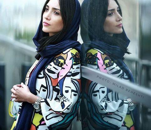 تک عکس خاطره اسدی با لباس و کفشی راحت و زیبا + عکس