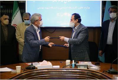وزارت تعاون، کار و رفاه اجتماعی با دانشگاه شهید بهشتی تفاهم نامه همکاری امضا کردند