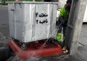 شستشو و گندزدایی بیش از 4900  مخزن زباله در شمال شرق تهران