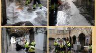 نظافت شهر در روز تعطیل منطقه ۱۲