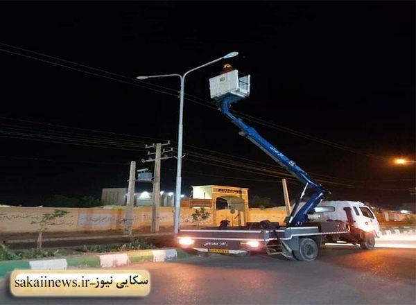 تعویض ۲۰۷ لامپ روشنایی در شهرستان زهک