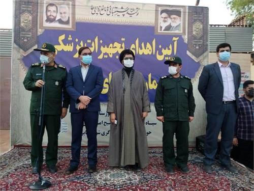 آئین اهدای تجهیزات پزشکی به بیمارستان های کرونایی از سوی شرکت فولاد خوزستان
