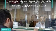 ۳۶۰ میلیارد ریال تسهیلات به واحدهای صنعتی مشکلدار استان مرکزی پرداخت شد