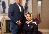 آبمیوه خوری فرزاد فرزین و خانم بازیگر +عکس
