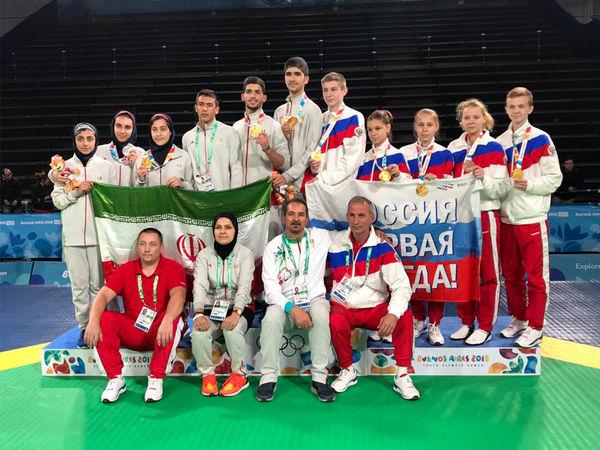 هتتریک طلایی تکواندوی ایران در المپیک جوانان آرژانتین