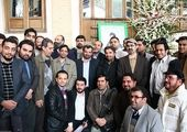 تصویری دیده نشده از امام خمینی (ره) در دسته عزاداری