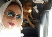 سلفی خانم بازیگر با عینک عجیب و غریبش+ عکس