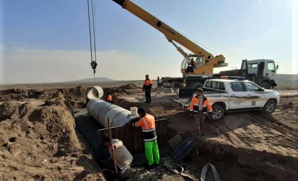 بهره برداری از سومین طرح احداث آبنمای لوله ای درمحورهای روستایی استان قم