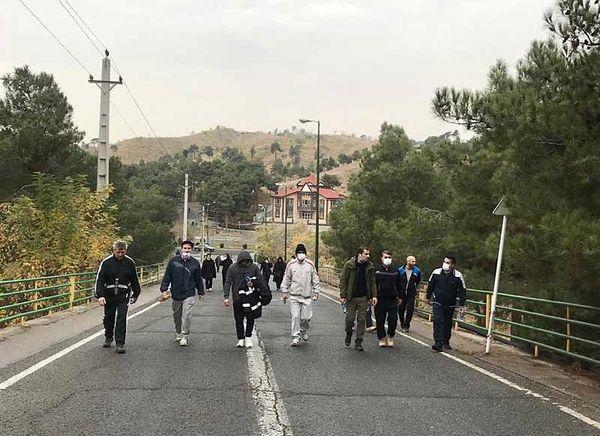 پیاده روی در ریه های تنفسی پایتخت