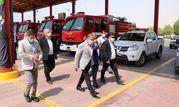 بازدید مدیر عامل پازارگاد از واحدهای ایمنی و آتشنشانی منطقه