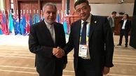 دیدار صالحی امیری با رئیس و دبیرکل کمیته ملی المپیک ازبکستان