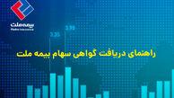 سهامداران بیمه ملت، گواهی سهام خود را غیرحضوری دریافت کنند
