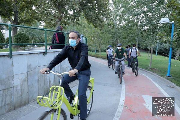 بوستان گفتگو به مسیر دوچرخه تجهیز شد