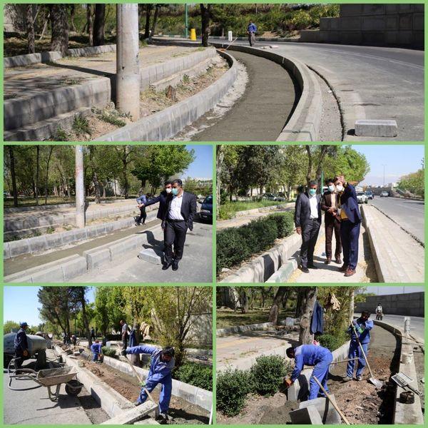 احداث مسیر دوچرخه سواری 9 کیلومتری در شهرک کیانشهر منطقه 15