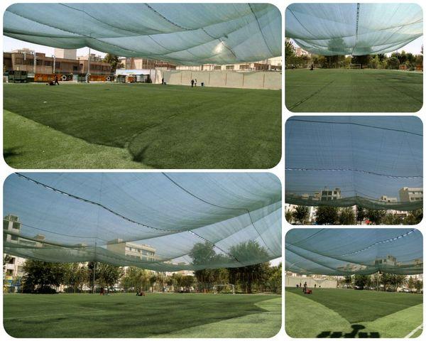 تجهیز زمین فوتبال گلگشت منطقه 15