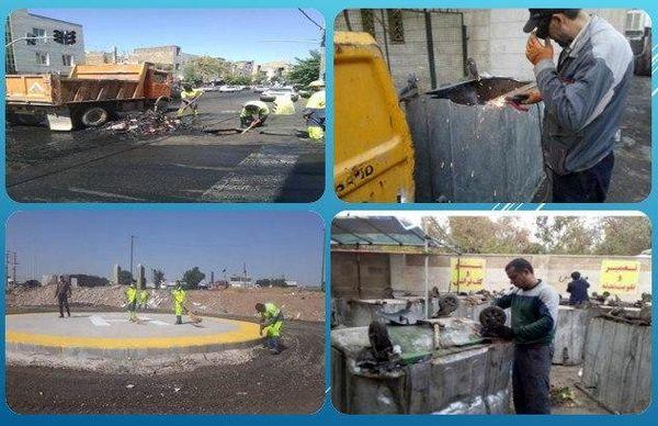 تلاش شبانه روزی در بهبود نگهداشت شهر منطقه 15