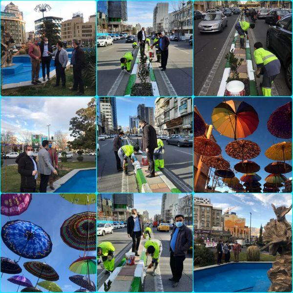   آسمان چتری آرژانتین در قلب تهران