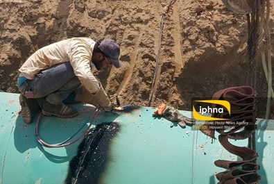 لوله گذاری آب شرب منطقه خرمشهر و آبادان