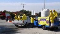استمرار گندزدایی معابر مناطق مسکونی شرکتی در نفتخیز جنوب