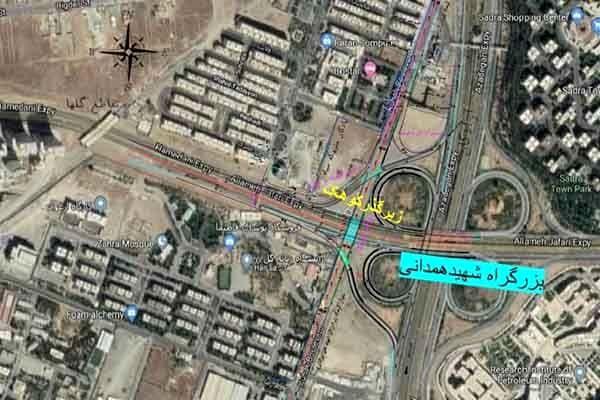 آغاز عملیات احداث تقاطع غیرهمسطح بزرگراه شهید همدانی با بلوار کوهک