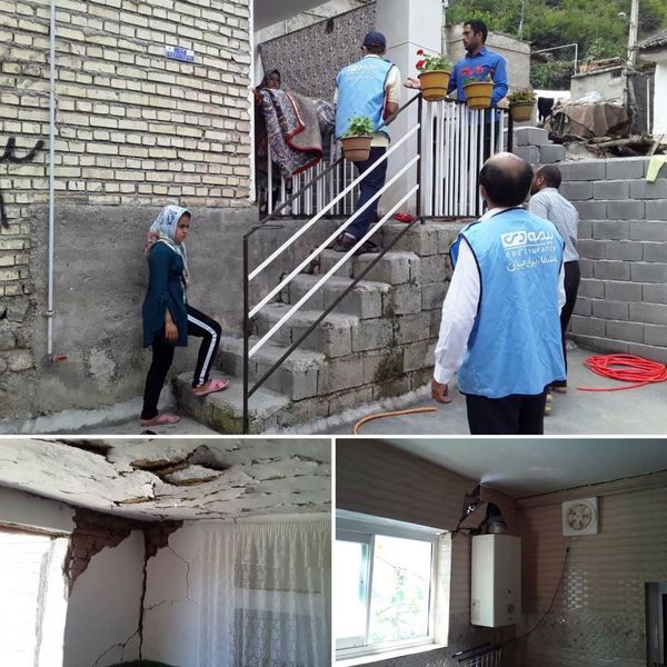 بازدید و ارزیابی مناطق زلزله زده استان گلستان توسط شرکت بیمه دی