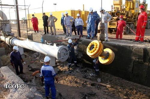 عملیات تعمیرات اساسی خط لوله انتقال نفت چشمه خوش پایان یافت