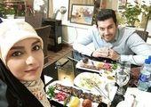 اختلاف سنی 14 ساله خانم مجری و همسرش+ عکس
