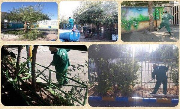 بازپیرایی فضای سبز مدارس جنوبشرق تهران