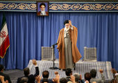 احمدی نژاد در دیدار مسئولان نظام با رهبر انقلاب+ عکس