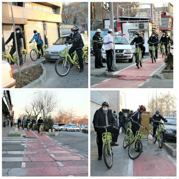 پیمایش محلات غرب پایتخت با دوچرخه توسط مدیران شهری منطقه۹