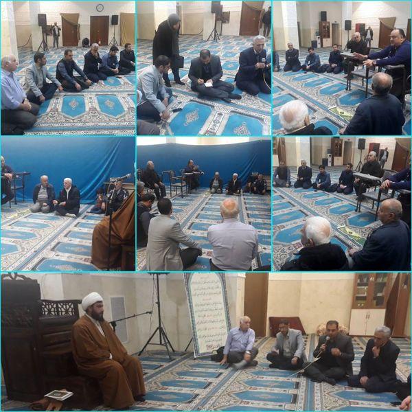 دیدار مردمی شهردارناحیه۴با نمازگزاران مسجد حضرت فاطمه زهرا(س)
