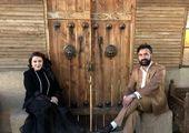 سپهر حیدری و همسرش با لباس پرسپولیس+عکس
