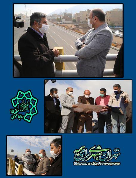 بازدید رئیس کمیسیون عمران و حمل و نقل شورای اسلامی شهر تهران از پروژه ی بزرگراه نجفی رستگار