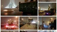 نمک پاشی معابر لغزنده توسط نیروهای اجرایی در پهنه غربی پایتخت